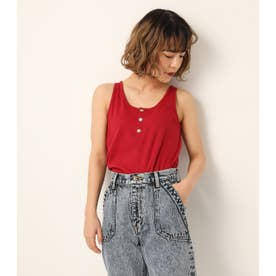 DOT BUTTON TANK TOP RED