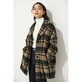 OVER CHECK SHORT COAT BEG