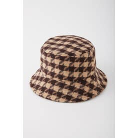 HOUNDSTOOTH CHECK  BUCKET HAT M/BEG7