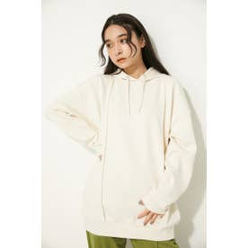 DOUBLE LINE OVER HOODIE O/WHT1