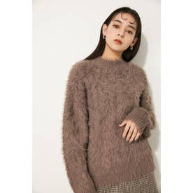 CABLE FLUFFY OVER KNIT BEG