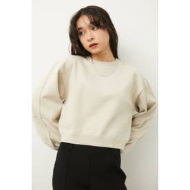 LINE SLEEVE CROPPED KNIT IVOY3