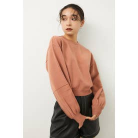 LINE SLEEVE CROPPED KNIT L/ORG1