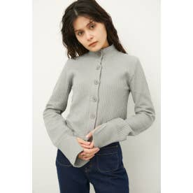 FRONT BUTTON THERMAL TOPS GRY