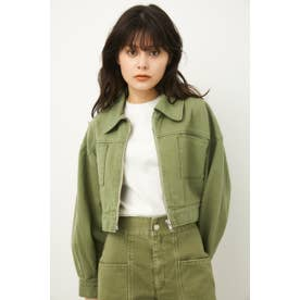 IVY DENIM JACKET D/LIME3