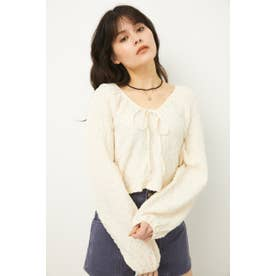 PUFF SLEEVE GATHER TOPS O/WHT1