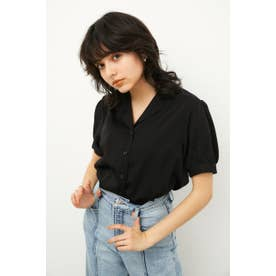 COMPACT PUFF SLEEVE SH BLK