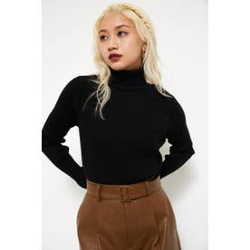 SIMPLY TURTLE KNIT TOPS BLK