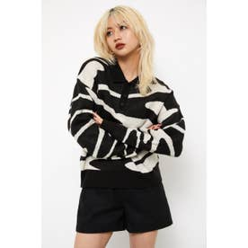 BILLOW POLO KNIT TOPS BLK