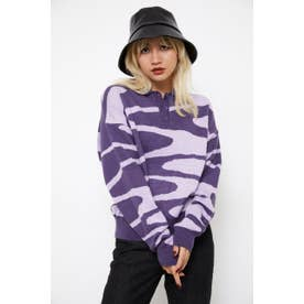 BILLOW POLO KNIT TOPS PUR
