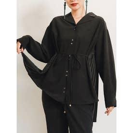 バックプリーツシャツ(ブラック)