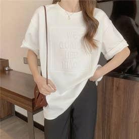 立体ロゴTシャツ (ホワイト)
