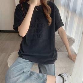 立体ロゴTシャツ (ブラック)