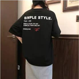 SIMPLEstyleTシャツ (ブラック)