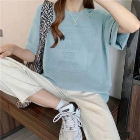 立体ロゴTシャツ (ライトブルー)