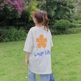 UNF likeプリントTシャツ (ホワイト)