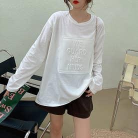立体ロゴTシャツ (ホワイト1)