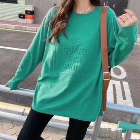 立体ロゴTシャツ (グリーン1)