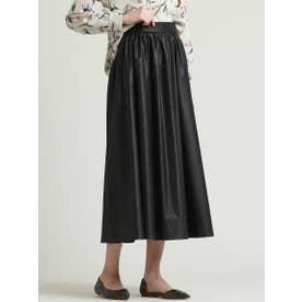 エアリーギャザースカート (ブラック)