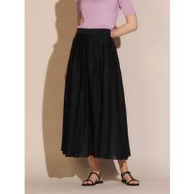 OXALISシルク混スカート《セットアップ対応》 (ネイビー)