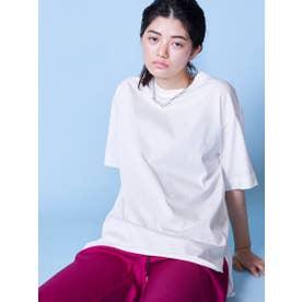 ハイゲージビッグTシャツ (オフホワイト)