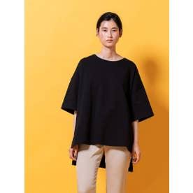 サイドスリットジャージTシャツ (ブラック)