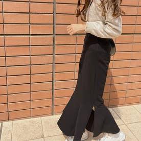 スリットマーメイドロングスカート (ブラック)