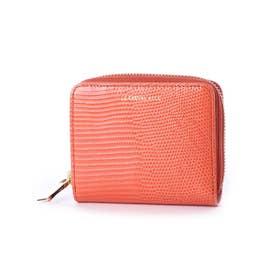 レザー二つ折り財布 (マカロンオレンジ)