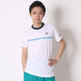 テニスTシャツ ハンソデシヤツ QT-010161 ホワイト (ホワイト)