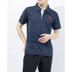 メンズ 半袖ポロシャツ エリツキハンソデシャツ QMMPJA71ZZ (ネイビー)