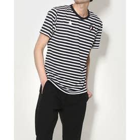 メンズ 半袖Tシャツ ハンソデボーダーシヤツ QMMRJA01 (ネイビー)