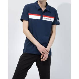メンズ 半袖ポロシャツ ハンソデポロシヤツ QMMRJA40 (ネイビー)