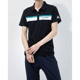 メンズ 半袖ポロシャツ ハンソデポロシヤツ QMMRJA40 (ブラック)