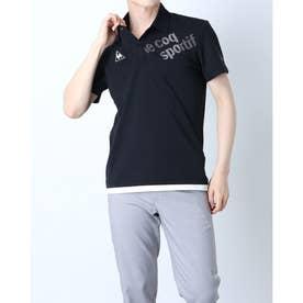 メンズ 半袖ポロシャツ ハンソデエリツキシャツ QMMRJA50CH (ブラック)