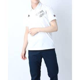 メンズ 半袖ポロシャツ ハンソデエリツキシャツ QMMRJA50CH (ホワイト)