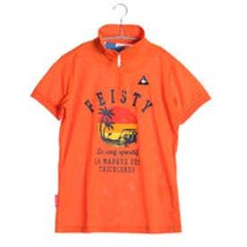ゴルフシャツ 半袖シヤツ(ニツト) QGL2618 (オレンジ)