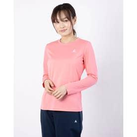 レディース 長袖機能Tシャツ ナガソデシャツ QMWPJB30ZZ (ピンク)