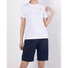 レディース 半袖機能Tシャツ ハンソデシャツ QMWPJA30ZZ (ホワイト)
