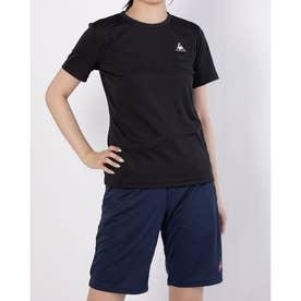 レディース 半袖機能Tシャツ ハンソデシャツ QMWPJA30ZZ (ブラック)