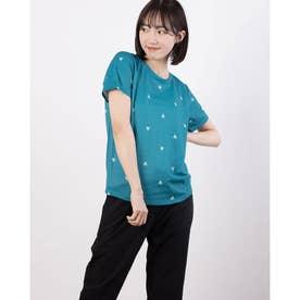 レディース 半袖機能Tシャツ サンスクリーンハンソデシヤツ QMWRJA16 (ブルー)