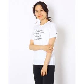 レディース 半袖機能Tシャツ ショートスリーブシャツ QMWSJA04 (ホワイト)