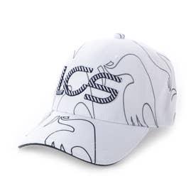 メンズ ゴルフ キャップ ボウシ QGBSJC04 (ホワイト)
