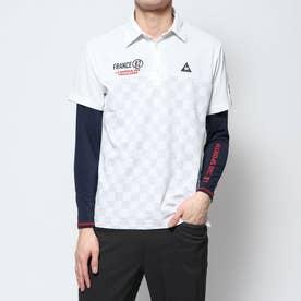 メンズ ゴルフ セットシャツ ハンソデシヤツ(ニツト) QGMPJA04W