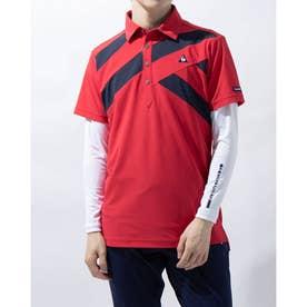 メンズ ゴルフ セットシャツ ハンソデシヤツ(ニツト) QGMRJA13W (レッド)