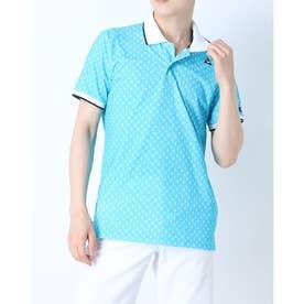 メンズ ゴルフ 半袖シャツ ハンソデシヤツ(ニツト) QGMRJA42AP (ブルー)