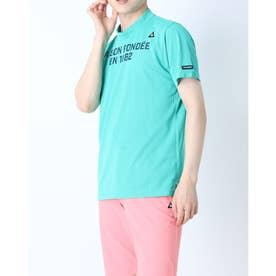 メンズ ゴルフ 半袖シャツ ハンソデシヤツ(ニツト) QGMRJA43AP (グリーン)