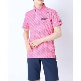 メンズ ゴルフ 半袖シャツ ハンソデシヤツ(ニツト) QGMRJA41AP (ピンク)