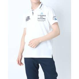 メンズ ゴルフ 半袖シャツ ハンソデシヤツ(ニツト) QGMRJA05 (ホワイト)