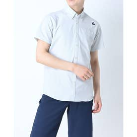 メンズ ゴルフ 半袖シャツ ハンソデシヤツ(フハク) QGMRJA70 (グレー)