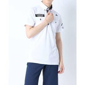 メンズ ゴルフ 半袖シャツ ハンソデシヤツ(ニツト) QGMRJA21 (ホワイト)